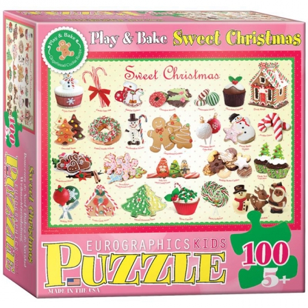 Пазл Eurographics Рождественские угощения №1, 100 элементов (6100-0433)
