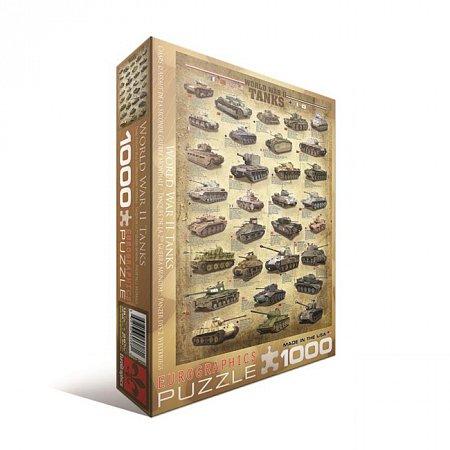 Пазл Eurographics Танки 2-й Мировой войны, 1000 элементов (6000-0388)