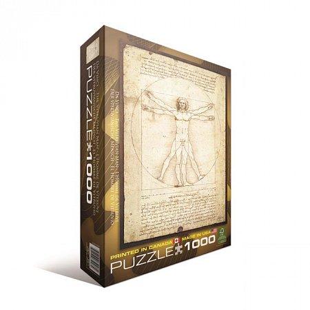 Пазл Eurographics Витрувианский человек Леонардо да Винчи, 1000 элементов (6000-5098)