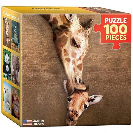 Пазл Eurographics Жирафы - материнский поцелуй, 100 элементов (8104-0301)