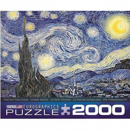 Пазл Eurographics Звездная ночь Винсент ван Гог, 2000 элементов (8220-1204)