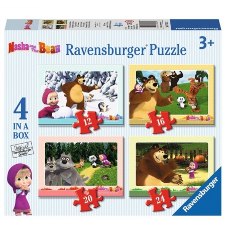 Пазл Маша и Медведь 4 в 1. Ravensburger (07028R)