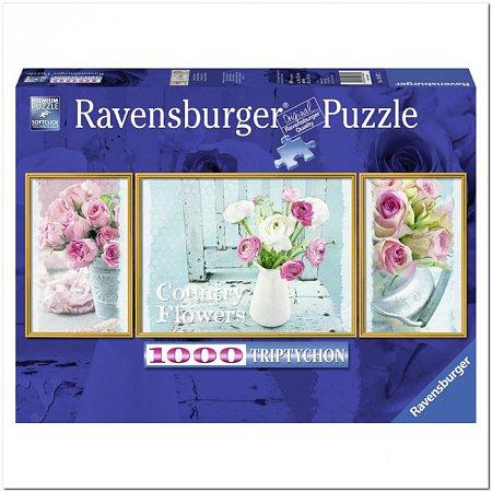 Пазл Ravensburger Деревенские цветы, 1000 элементов. Триптих (RSV-194872)