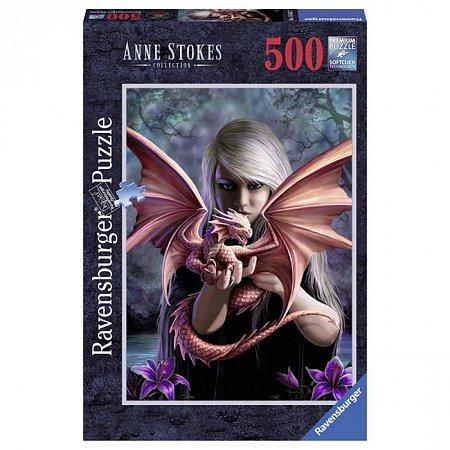 Пазл Ravensburger Девушка с драконом, 500 элементов (RSV-146437)