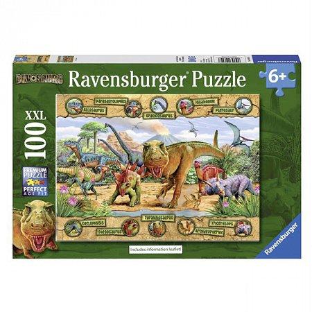 Пазл Ravensburger Динозавры, 100 элементов (RSV-106097)