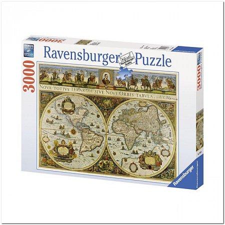 Пазл Ravensburger Карта Мира, 3000 элементов (RSV-170548)