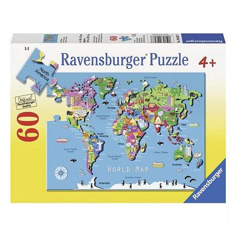 Пазл Ravensburger Карта мира, 60 элементов (RSV-096077)