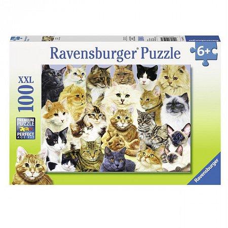 Пазл Ravensburger Коты и собаки, 100 элементов (RSV-105274)