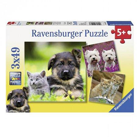 Пазл Ravensburger Коты и собаки, 49 элементов (RSV-094233)