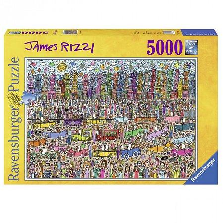 Пазл Ravensburger Переполненный город. Джеймс Рицци., 5000 элементов (RSV-174270)