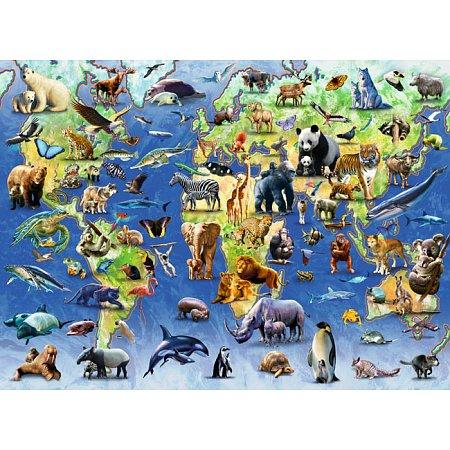 Пазл Ravensburger Редкие виды животных, 500 элементов (14264)