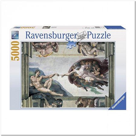 Пазл Ravensburger Сотворение Адама, Микельанжелло, 5000 элементов (RSV-174089)