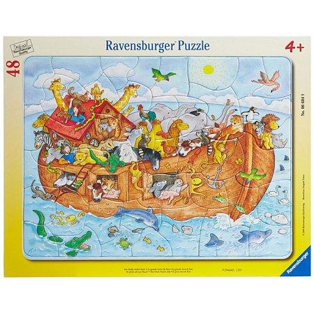 Пазл в рамке Большой Ноев ковчег, 48 элементов, Ravensburger (06604R)
