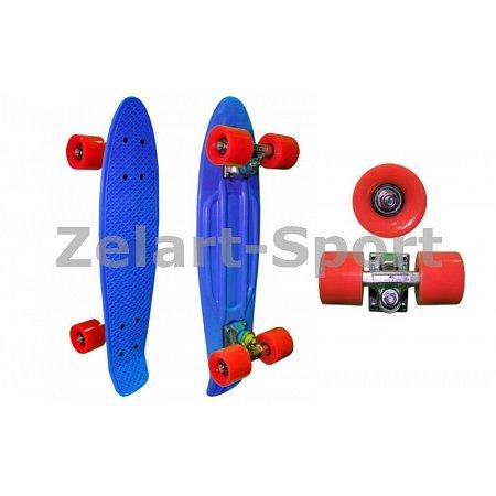 Penny (пенниборд) PU однотонная дека 22inch SK-4353-4 ORIGINAL (синий-красный)