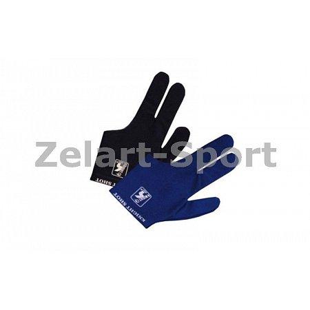 Перчатка бильярдная (1шт) KS-2270 (нейлон, эластан, черный, синий)