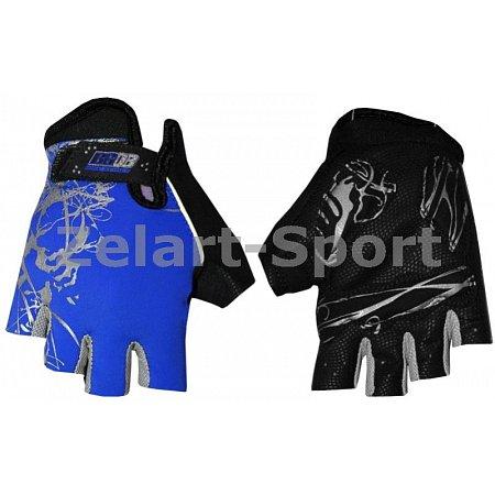 Перчатки спортивные SCOYCO BG08-B(L) (PL, PVC, открытые пальцы, р-р L, синий)