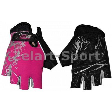 Перчатки спортивные SCOYCO BG08-P(M) (PL, PVC, открытые пальцы, р-р M, розовый)