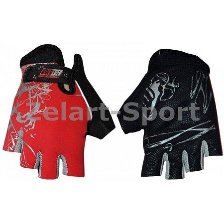 Перчатки спортивные SCOYCO BG08-R(S) (PL, PVC, открытые пальцы, р-р S, красный)