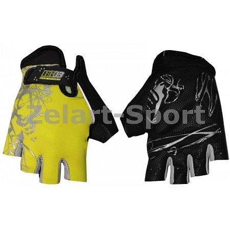 Перчатки спортивные SCOYCO BG08-Y(S) (PL, PVC, открытые пальцы, р-р S, желтый)