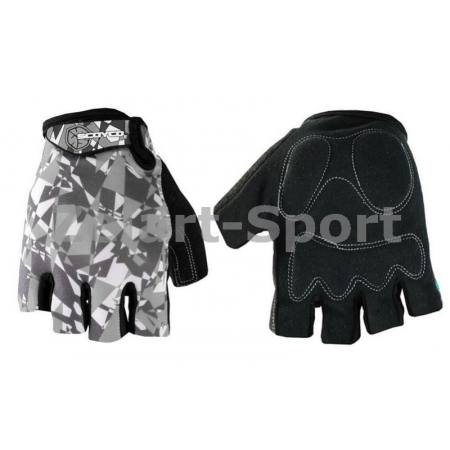 Перчатки спортивные SCOYCO BG14-BKGR(L) (PL, PVC, лайкра, открытые пальцы, р-р L, черный-серый)