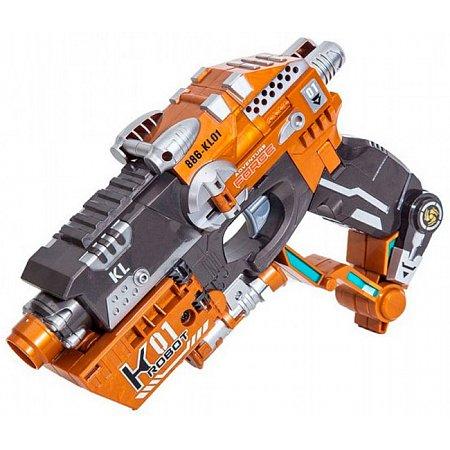 Пистолет-трансформер 2 в 1 Flasher (6 мягких пуль, блистер), RoboGun, K01