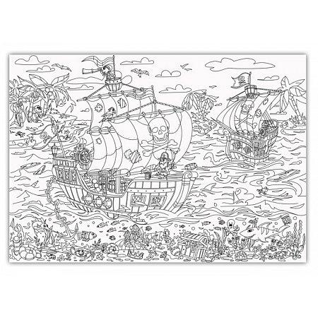 Плакат-раскраска Пираты от ОKroshka (84 x 60 см)