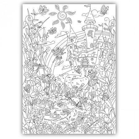 Плакат-раскраска Сказочные феи от ОKroshka (84 x 60 см)