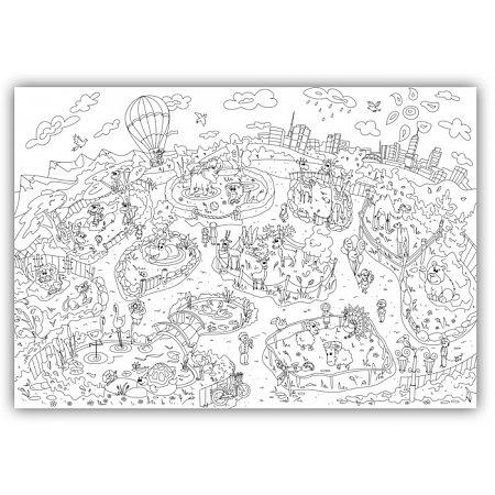 """Плакат-раскраска """"ZOOландия"""" от ОKroshka (119 x 84 см)"""
