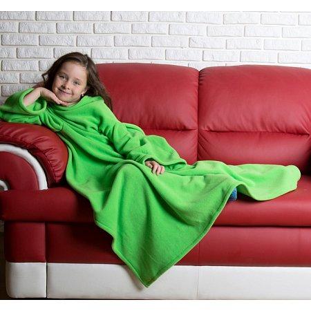 Плед с рукавами детский Homely Kids Original Салатовый, флис, 100x130 см