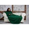 Плед с рукавами Homely Original Зеленый, флис, 140x180 см