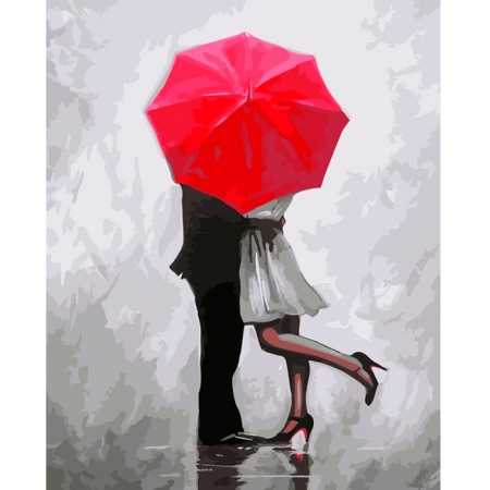 Поцелуй, Серия Люди, рисование по номерам, 40 x 50 см, Идейка, КН2656