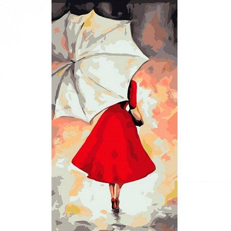 Под белым зонтиком, Серия Люди, рисование по номерам, 27 x 50 см, Идейка, КН2654