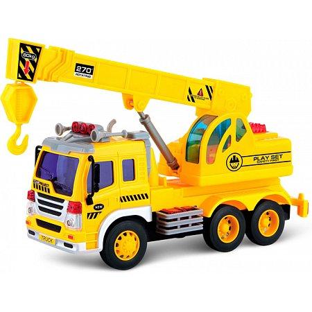 Подъемный кран со светом и звуком (28 см), Junior trucker, 33025