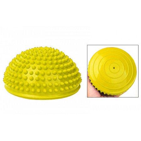 Полусфера массажная балансировочная Balance Kit FI-4939-3 (резина, d-15см, h-7,5см, 280g, желтый)