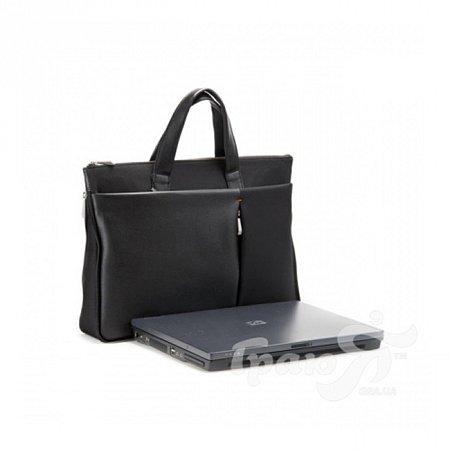 Портфель мужской кожаный с карманом для нетбука Jack Bag (Джек Бэг) LC10352-black