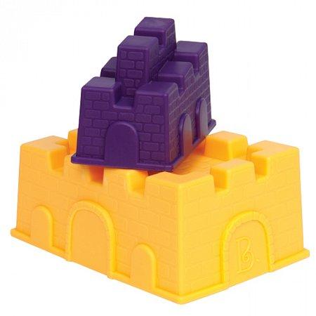 Построй замок – 2 пасочки, (цвет манго и сливовый), набор для игры с песком и водой, Battat (BX1336Z)
