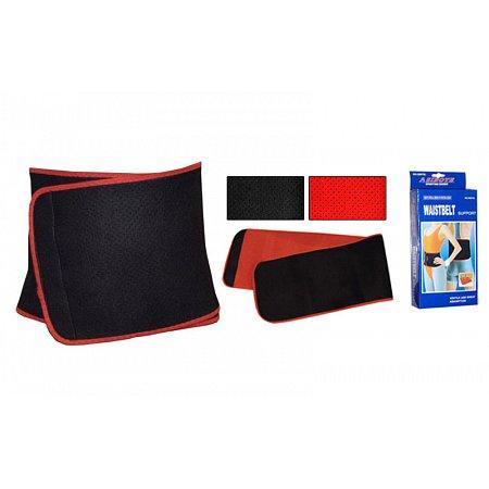 Пояс для похудения SB878L (80% неопрен, 20% эластан, р-р L-24см x 105см x 3мм, черный-красный)