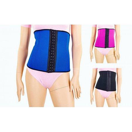 Пояс утягивающий талию SKULPTING CLOTHES 132-M (PL+эластан, р-р M-76см, черный, малин., синий)