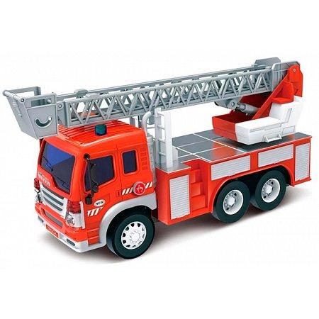 Пожарная машина с лестницей, светом и звуком (28 см), Junior trucker, 33015
