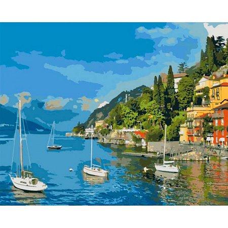 Прибрежный отдых, серия Городской пейзаж, рисование по номерам, 40 х 50 см, Идейка, КН-2164