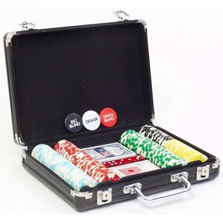 Покерный набор в кейсе на 200 фишек без номинала. 11,5g-chips
