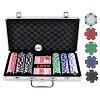 Покерный набор на 300 фишек без номинала в серебристом кейсе. 11,5g-chips
