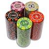 Покерный набор на 200 фишек с номиналом 200 Star, номинал 1-500. Керамика, 14г