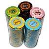 Покерный набор на 300 фишек с номиналом 300 Tournament, номинал 25-5000. Керамика, 14г