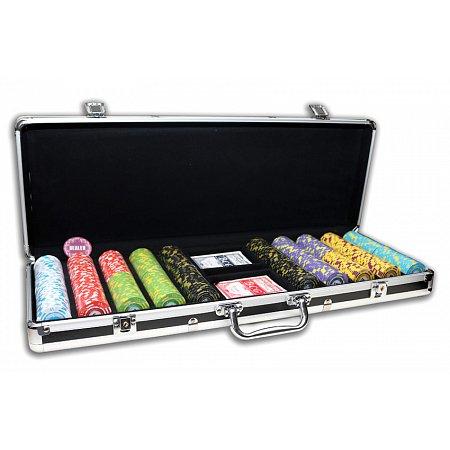 Покерный набор на 500 фишек с номиналом 500 Value, номинал 1-5000. Керамика, 14г