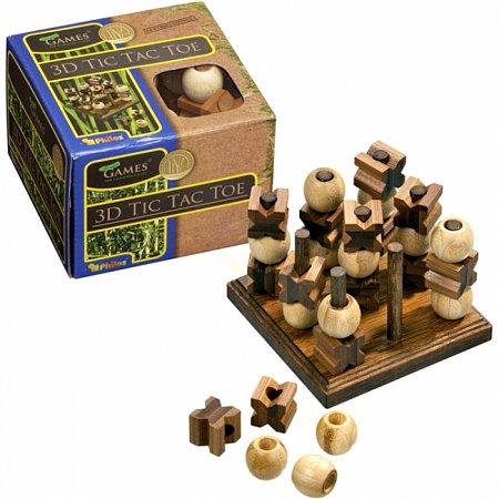 Игра Тик-Так-Тое 3D, бамбук. Philos 3266