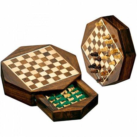 Шахматы дорожные Octagon мини, магнитные, 13,5х13,5х2,5 см. Philos 2718