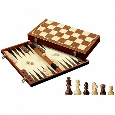 Набор Шахматы-Нарды-Шашки, 40,5х20,5х5 см. Philos 2510