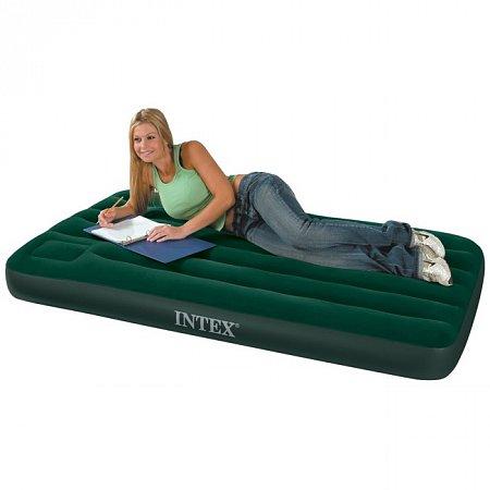 Надувной матрас Downy Twin Bed (99 x 191, встроенный насос), Intex 66927