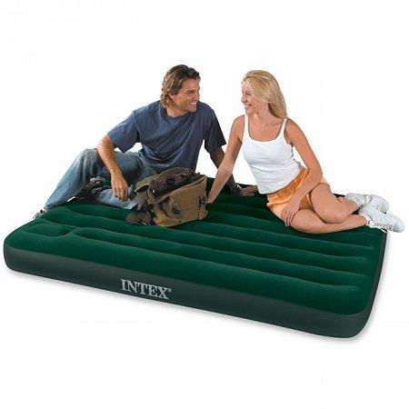Надувной матрас Downy Full Bed (137 x 191, встроенный насос), Intex 66928